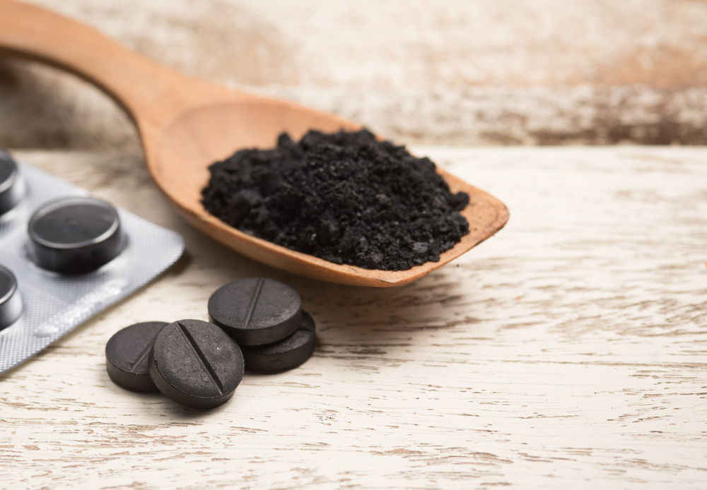 photo of charcoal particles used for teeth stain removal