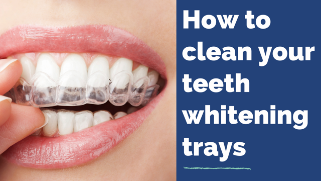 how to clean teeth whitening trays cover