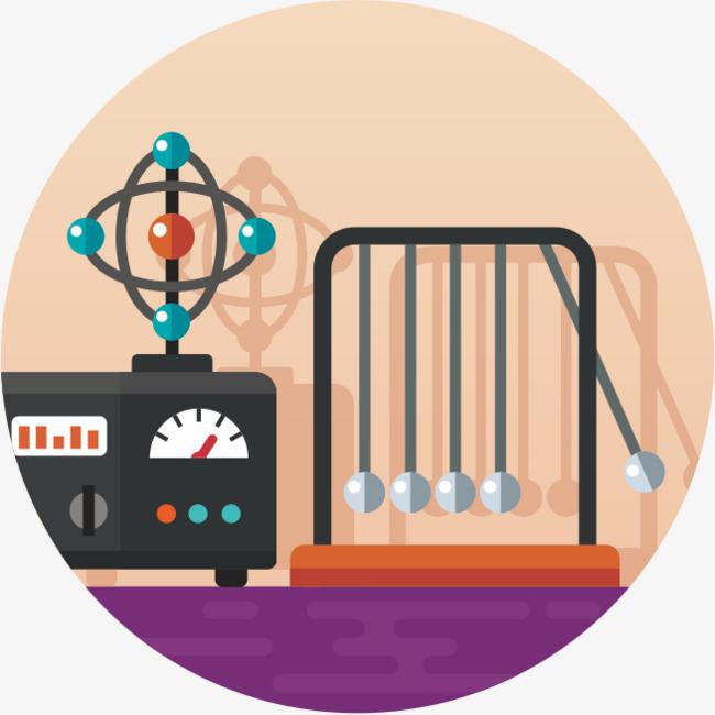 cartoon of science instruments